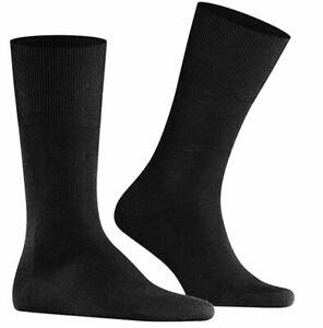 FALKE Airport Men's Socks Business 11-12 Wool Cotton - Dark Brown 5450