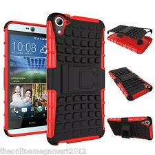 RED HYBRID TOUGH ARMOR SHOCKPROOF STAND BACK COVER/CASE FOR HTC DESIRE 826