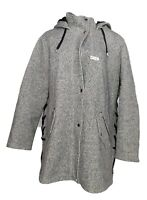 Susan Graver Women's Plus Sz 1X Tweed Jacket w/ Lacing Detail Gray A370870