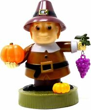 Solar Dancing Pilgrim Holding Pumpkin and Grapes Thanksgiving Holiday New