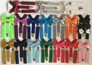 Matching Braces Suspenders and Bow Tie Set Kids Adult Children Boys Wedding
