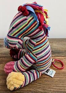 Jellycat Maypole Pony Stripe Rainbow Horse Musical Pull