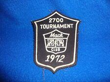 Vintage 1972 Mac Club Tournament Patch