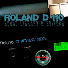 for ROLAND D-110 Original Factory & New Created Sound Library & Editors on CD
