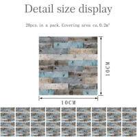 20PCS PVC Wall Stickers Waterproof Kitchen Bathroom Bar Tile Stickers Decor