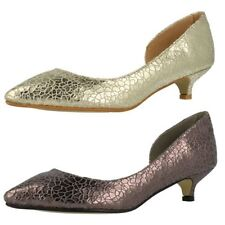 Court Textured Synthetic Heels for Women