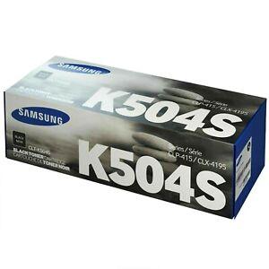Genuine Samsung CLT-K504S/ELS Original Black Toner Cartridge K504S
