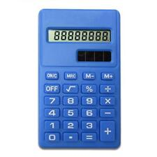 Candy Color Solar Battery Calculator Counter Random Color Student Office Tools