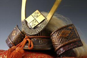 Japanese Vintage Samurai Helmet -Takeda Shingen Kabuto- with a cushion