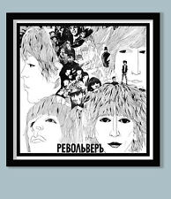 BEATLES POSTER . RUSSIAN REVOLVER  DIFFERENT PHOTO COLLAGE  40X40cm PRINT