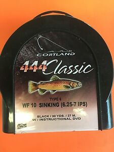 Cortland 444 Classic WF10S Type 6 Sinking Fly Line
