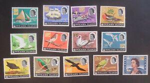 Pitcairn 1967 definitives ship bird SG69/81 MNH UM unmounted mint