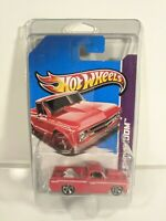 '67 Chevy C10 #170 * RED * 2013 Hot Wheels * NIP w/ Protecto