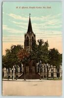 Grand Forks ND~Steeple on Corner of United Methodist Episcopal Church~1915 PC