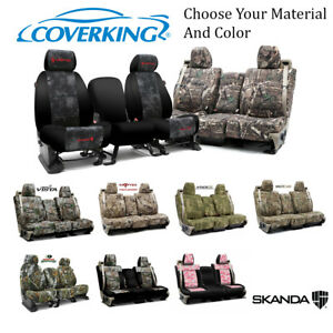 Coverking Custom Front Row Skanda Camo Seat Covers For Nissan Truck/SUVs