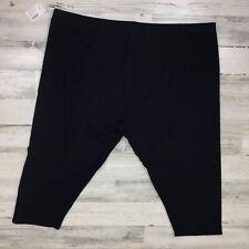 NWT Plus Size Fashion Bug Cotton Blend Black Crop Pants 4X