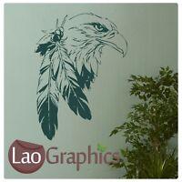 Indian Eagle Bird Wall Art Sticker Large Vinyl Transfer Graphic Decal Decor Bi2
