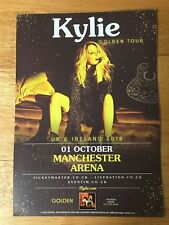 KYLIE MINOGUE - GOLDEN TOUR - MANCHESTER ARENA UK 2018 TOUR FLYER (SIZE A5)