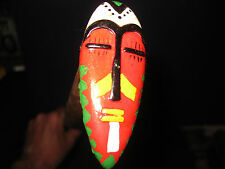 Mw.489M: Vintage African Mask On Top Of Ash Walking Stick Cane