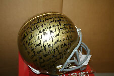 NOTRE DAME RUDY RUETTIGER SIGNED F/S HELMET W/QUOTE FROM RUDY JSA WITNESS!