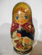 Vintage Russian Nesting Dolls 8 Inch 7 Piece Set Signed And Dated 1993