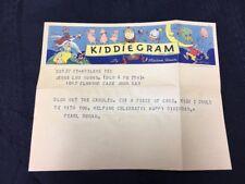 Wonderful 1936 Color Kiddie Gram Western Union Telegram w/ Storybook Characters