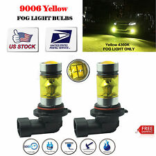 2x9006 HB4 LED Fog Light Bulbs 4300K Yellow Samsung 100W Driving Projector DRL