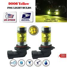 2x9006 HB4 LED Fog Light Bulbs 4300K Yellow Samsung 100W Driving Projector DRL