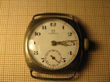 Solid silver Omega 23.7 cushion shape ladies or junior wrist watch,30y of XXc