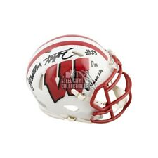 Jonathan Taylor On Wisconsin Autographed Wisconsin Mini Football Helmet BAS COA