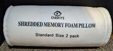 2 Oaskys Shredded Memory Foam Pillow w/ Zipper Bamboo Cover Breathable Standard