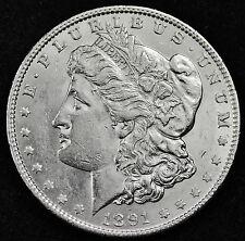 1891-p Morgan Silver Dollar.  Full Chest Feather's.  BU.  (INV.A)