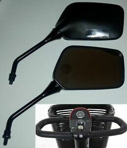 PAIR OF PRIDE  MOBILITY SCOOTER MIRRORS 8mm THREADED FOR DELTA HANDLEBARS