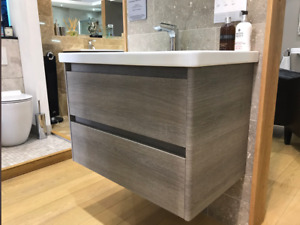 Catalano New Light 125x48 Double basin 1TH with 2 Drawer Unit Metz