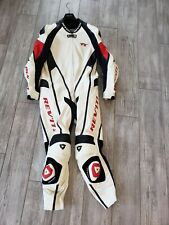 Rev'it White Red Black Leather Racing Team Gear Suit TT-Model 54- Original Liner