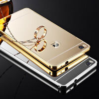 Luxury Aluminum Metal Bumper Mirror Protective Back Skin Case Cover For Huawei