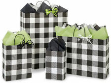 Buffalo Plaid Black 125 Paper Gift Bags Assorted Sizes All Occasion Eco-friendly