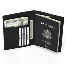 Leather Family Travel Document Organizer Capacious RFID Passport Holder Wallet