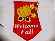 """""""Welcome Fall"""" Felt Banner-9.25"""" x 15.5""""-Brand New with Tags!!"""