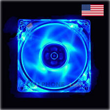 80mm Computer PC Clear Case Cooling Fan With LED - Blue