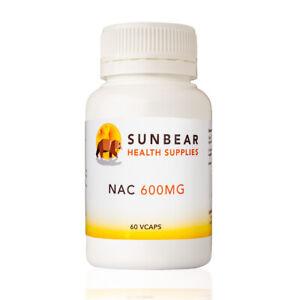 NAC 600mg - Sunbear Health Supplies - 60VCaps