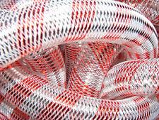 Plata Rojo Metálico Stripe Tubular Sur cyberlox