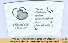 Printed Wedding Coffee Cup Sleeve Java Jacket 100pk Wht