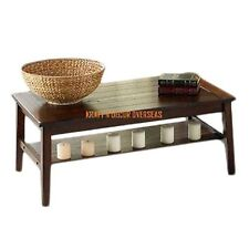 KraftNDecor Contemporary Wooden Coffee Table in Brown Colour