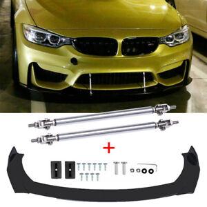 For BMW E90 E91 E92 E93 E60 E61 Front Bumper Lip Splitter Spoiler + Strut Rods
