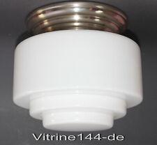 BAUHAUS Deckenleuchte Gispen Entwurf 30er Jahre d=20cm Opalglas silberner Halter