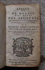 """QUESNEL """"Abrégé.. morale de St Paul"""" - PRALLARD 1687 - Jansénisme - Théologie"""