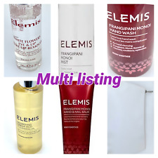 Elemis Frangipani Monoi Bath Shower Milk Body Mist HandWash Nail FaceCream Balm