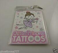 temporary tattoos body art glitter claire glitter princess  tattoo