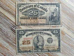 Canada 25 cents 1900 - 1923 banknotes